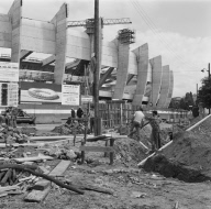 Construction du Parc des Princes
