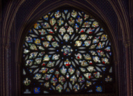 Sainte-Chapelle de Paris, chapelle haute, rose ouest