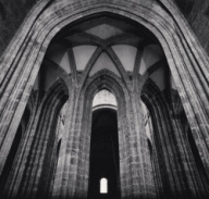 """""""Abbey Nave and Bell Rope, Mont St. Michel, France. 2000"""""""