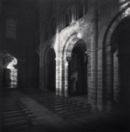 """Abbey Nave at Night, Mont St. Michel, France. 2000"""