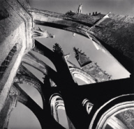 """Flying Buttresses, Mont St. Michel, France. 2000"""