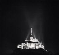 """Illuminated Abbey, Mont St. Michel, France. 2004"""