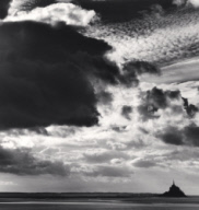 """Threatening Cloud, Mont St. Michel, Normandy, France. 2000"""