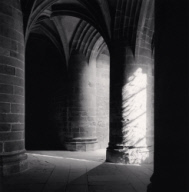 """Crypt of the Great Pillars, Mont St. Michel, France. 2000"""