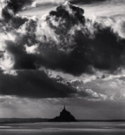 """November Clouds, Mont St. Michel, France. 2000"""